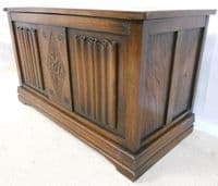 Carved Panelled Blanket Chest in the Jacobean Style - SOLD